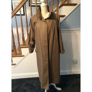 London Fog Trench Coat Zip Wool Lining sz 8 USA